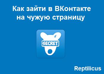 Как зайти в ВКонтакте на чужую страницу